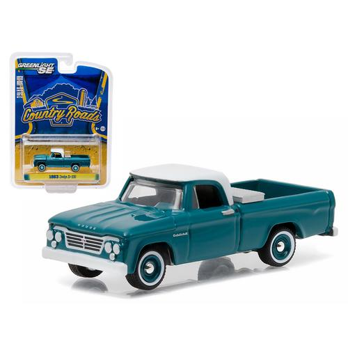 "1963 Dodge D-100 with Toolbox Pickup Truck ""Country Roads"" Series 14 1/64 Diecast Model by Greenlight"