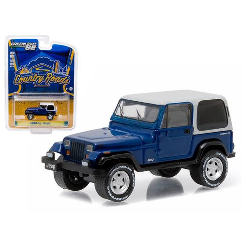 "1990 Jeep Wrangler YJ ""Country Roads"" Series 14 1/64 Diecast Model Car by Greenlight"