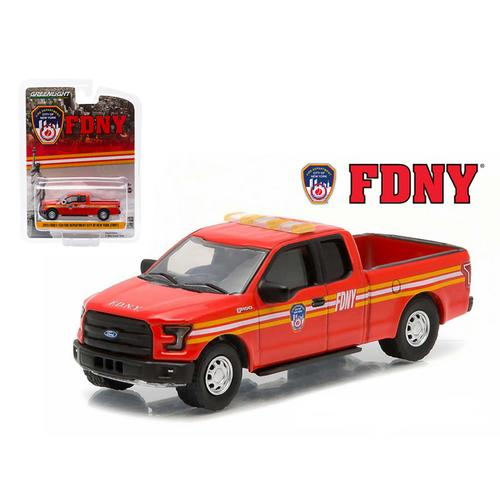 2015 Ford F-150 The Official Fire Department City of New York FDNY Hobby Exclusive 1/64 Diecast Model by Greenlight