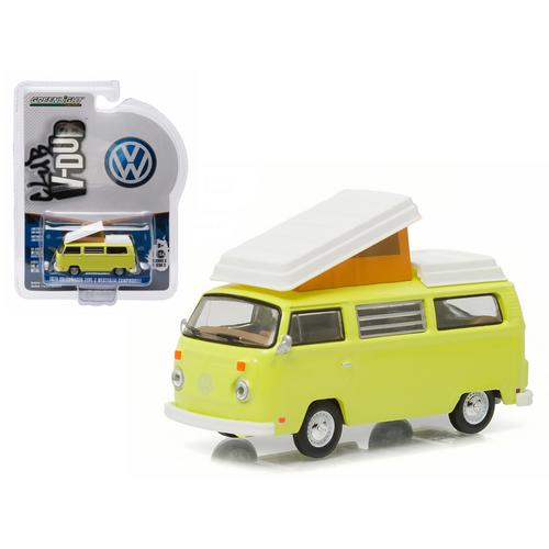 1974 Volkswagen Type 2 Bus (T2B) Westfalia Campmobile Yosemite Yellow 1/64 Diecast Model Car by Greenlight