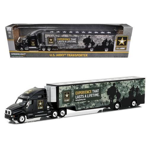 Kenworth T2000 Hauler U.S. Army Hobby Exclusive 1/64 Diecast Model Car by Greenlight