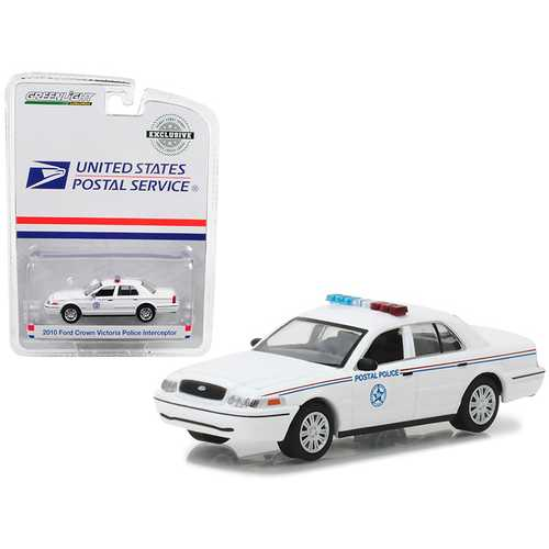 2010 Ford Crown Victoria United States Postal Service (USPS) Police 1/64 Diecast Model Car by Greenlight