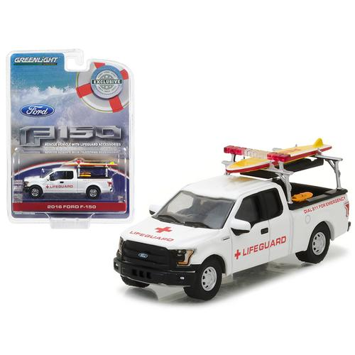 2016 Ford F-150 with Lifeguard Accessories Hobby Exclusive 1/64 Diecast Model Car  by Greenlight