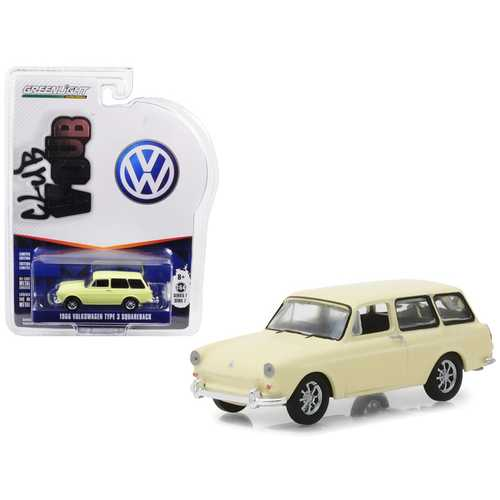 1966 Volkswagen Type 3 Squareback Yellow Series 7 Club Vee Dub 1/64 Diecast Model Car by Greenlight