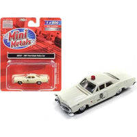 1967 Ford State Police Car Cream 1/87 (HO) Scale Model Car by Classic Metal Works