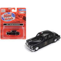 1950 Dodge County Sheriff Car Black 1/87 (HO) Scale Model Car by Classic Metal Works