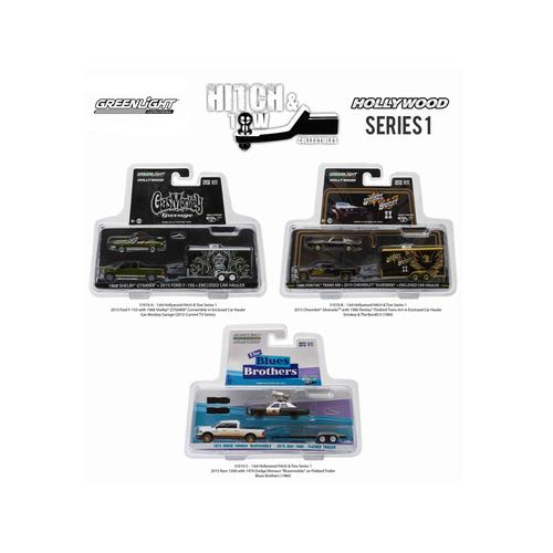 Hollywood Hitch & Tow Series 1 Set of 3 1/64 Diecast Model Cars by Greenlight