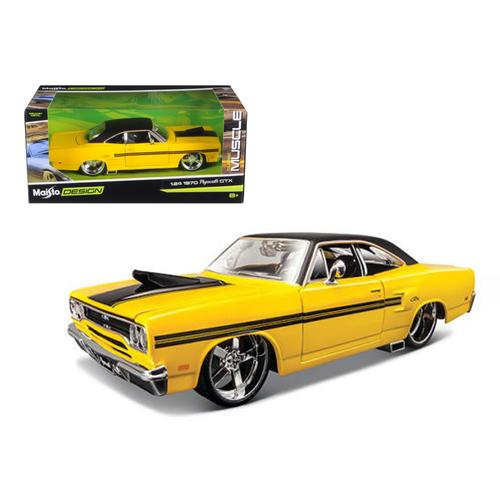"1970 Plymouth GTX Yellow ""Classic Muscle"" 1/24 Diecast Model Car by Maisto"