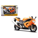 Kawasaki Ninja ZX 10R Orange Motorcycle 1/12 Diecast Model by Maisto