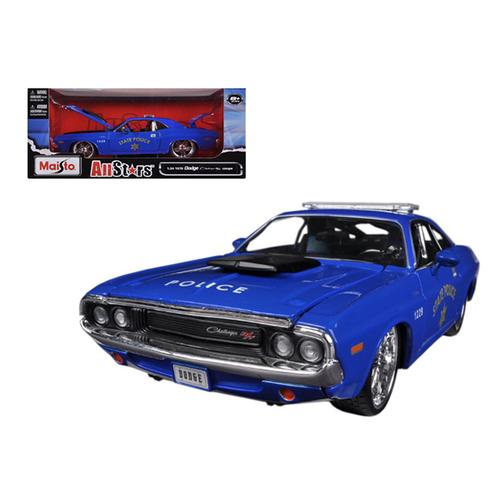 "1970 Dodge Challenger R/T Coupe Police Blue ""All Stars"" 1/24 Diecast Model Car by Maisto Maisto"