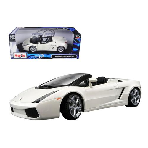 Lamborghini Gallardo Spyder White 1/18 Diecast Model Car by Maisto
