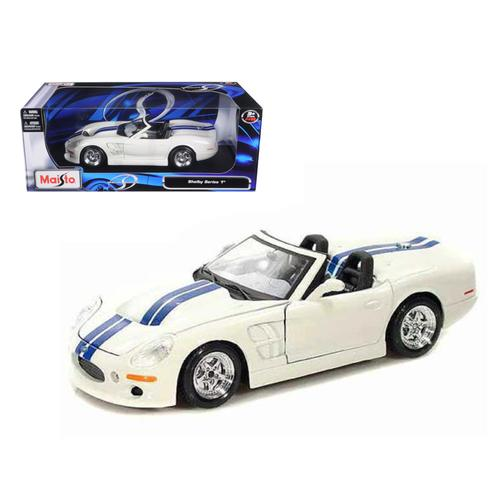 1999 Shelby Series 1 White W/Blue Stripes 1/18 Diecast Model Car by Maisto