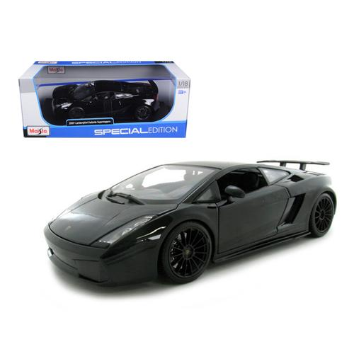 2007 Lamborghini Gallardo Superleggera Black 1/18 Diecast Model Car by Maisto