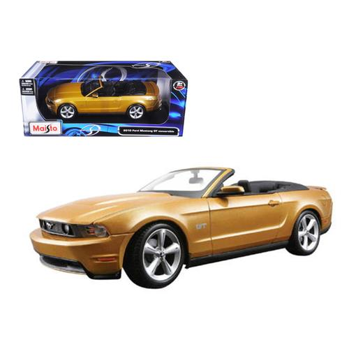 2010 Ford Mustang Convertible Gold 1/18 Diecast Model Car by Maisto
