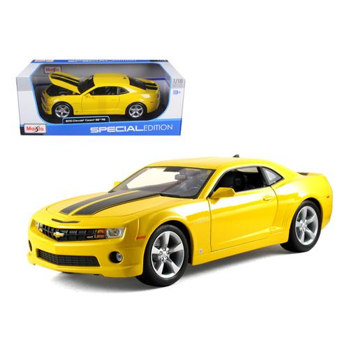 2010 Chevrolet Camaro SS RS Yellow 1/18 Diecast Model Car by Maisto