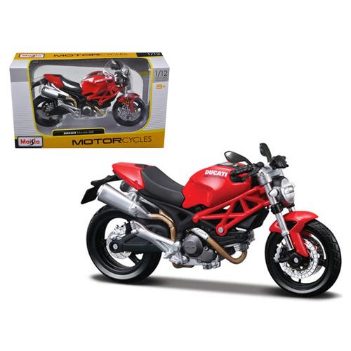 Ducati Monster 696 Red Motorcycle 1/12 Diecast Model by Maisto