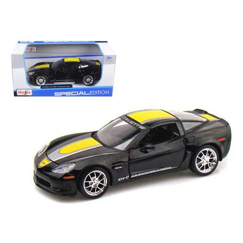 2009 Chevrolet Corvette C6 Z06 GT1 Black Commemorative Edition Diecast Car Model 1/24 by Maisto