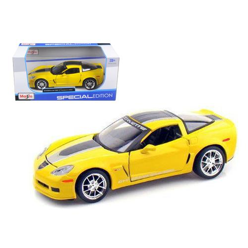 2009 Chevrolet Corvette C6 Z06 GT1 Yellow Commemorative Edition 1/24 Diecast Model Car by Maisto