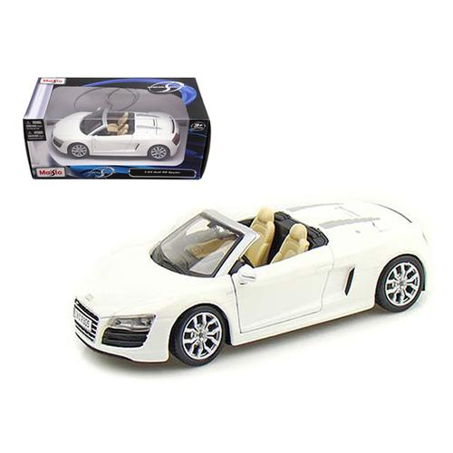 2011 Audi R8 Spyder White 1/24 Diecast Model Car by Maisto