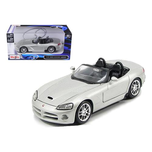 2003 Dodge Viper SRT-10 Silver 1/24 Diecast Model Car by Maisto