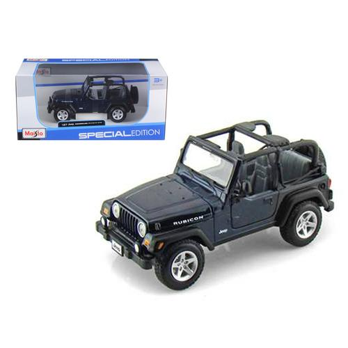 Jeep Wranger Rubicon Blue 1/27 Diecast Model Car by Maisto