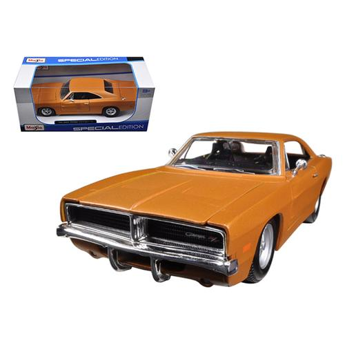 1969 Dodge Charger R/T Orange 1/25 Diecast Model Car by Maisto
