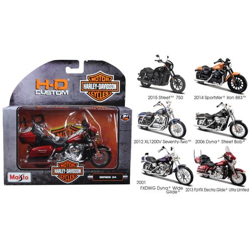 Harley Davidson Motorcycle 6pc Set Series 34 1/18 Diecast Models by Maisto