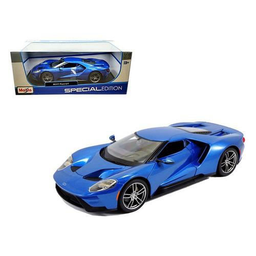 2017 Ford GT Blue 1/18 Diecast Model Car by Maisto