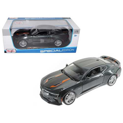 2017 Chevrolet Camaro SS Fifty 50th Anniversary Metallic Grey 1/18 Diecast Model Car by Maisto