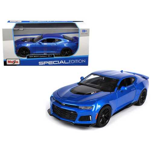 2017 Chevrolet Camaro ZL1 Blue 1/24 Diecast Model Car by Maisto