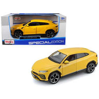 Lamborghini Urus Yellow 1/24 Diecast Model Car by Maisto