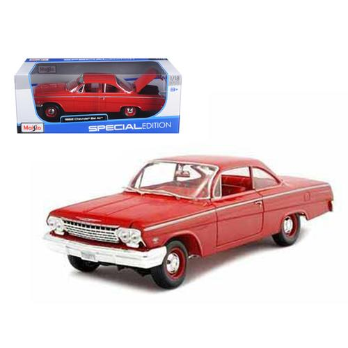 1962 Chevrolet Bel Air Red 1/18 Diecast Model Car by Maisto