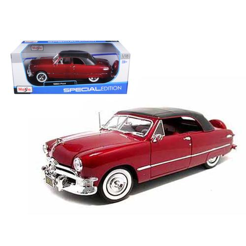 1950 Ford Soft Top Red 1/18 Diecast Model Car by Maisto