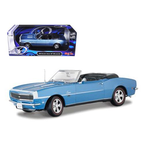 1968 Chevrolet Camaro Convertible Blue 1/18 Diecast Model Car by Maisto