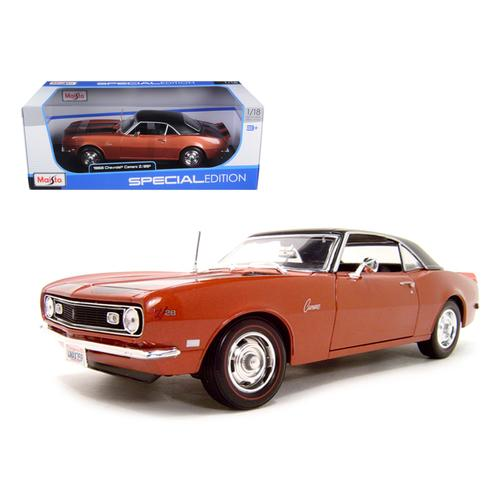 1968 Chevrolet Camaro Z/28 Coupe Bronze 1/18 Diecast Model Car by Maisto