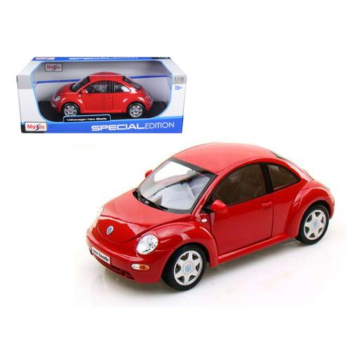 Volkswagen New Beetle Red 1/18 Diecast Model Car by Maisto