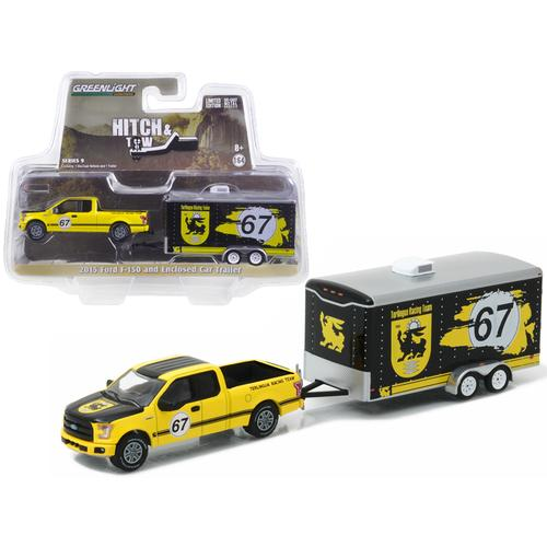 2015 Ford F-150 and Terlingua Racing Trailer Hitch & Tow Series 9 1/64 Diecast Model Car  by Greenlight