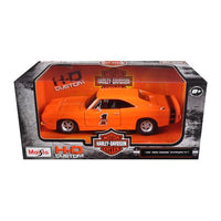 1969 Dodge Charger R/T Harley Davidson Orange 1/25 Diecast Model Car by Maisto