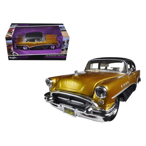 "1955 Buick Century Gold/Black ""Outlaws"" 1/26 Diecast Model Car by Maisto"