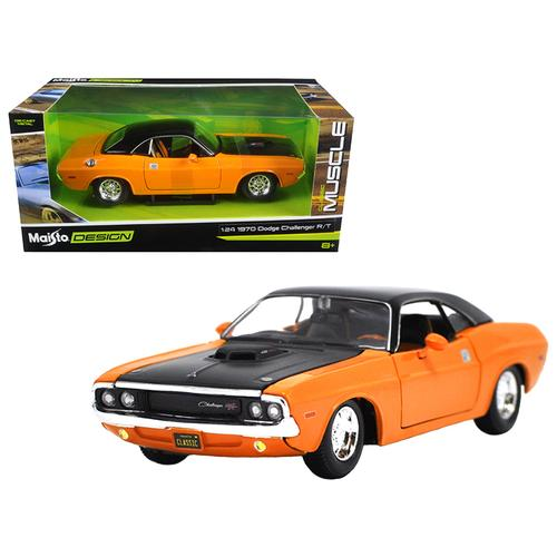 "1970 Dodge Challenger R/T Orange ""Classic Muscle"" 1/24 Diecast Model Car  by Maisto"