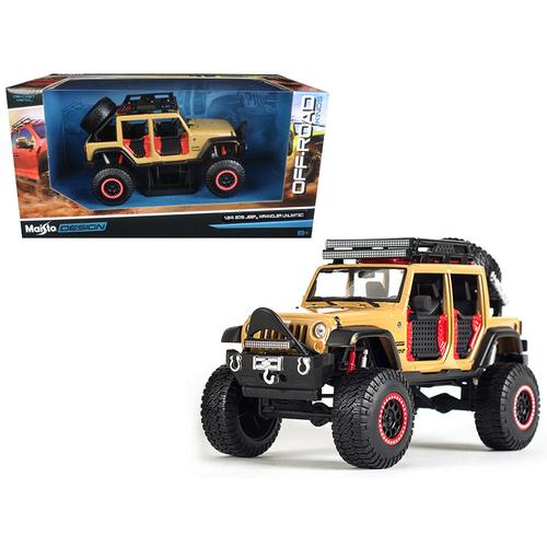 2015 Jeep Wrangler Unlimited Brown Off Road Kings 1/24 Diecast Model Car by Maisto