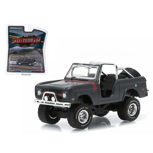 "1968 Ford Bronco Custom Steel Gray ""All Terrain"" Series 1 1/64 Diecast Model Car by Greenlight"