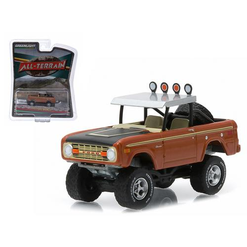 "1972 Ford Bronco Custom Copper Metallic ""All Terrain"" Series 1 1/64 Diecast Model Car by Greenlight"