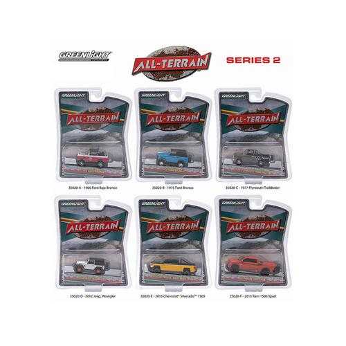 All Terrain Series 2, 6pc Diecast Car Set 1/64 by Greenlight