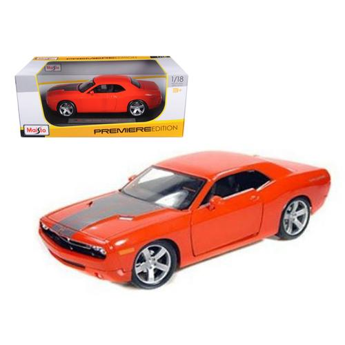 2006 Dodge Challenger Concept Car Orange 1/18 Diecast Model Car by Maisto
