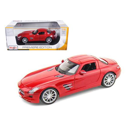 2011 Mercedes SLS AMG Gullwing Red 1/18 Diecast Model Car by Maisto