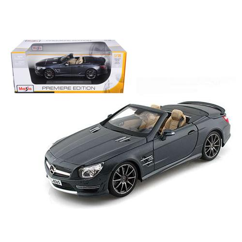 2012 Mercedes SL 65 AMG Convertible Grey 45th Anniversary 1/18 Diecast Model Car by Maisto