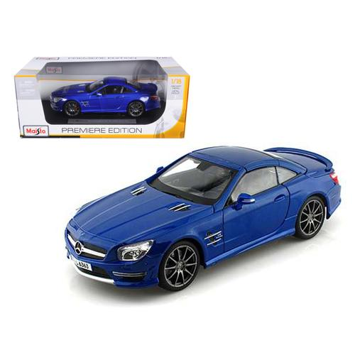 2012 Mercedes SL 63 AMG Blue 1/18 Diecast Car Model by Maisto