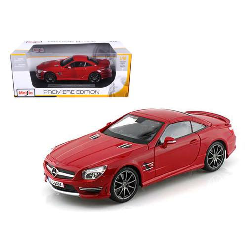 2012 Mercedes SL 63 AMG Red 1/18 Diecast Model Car by Maisto