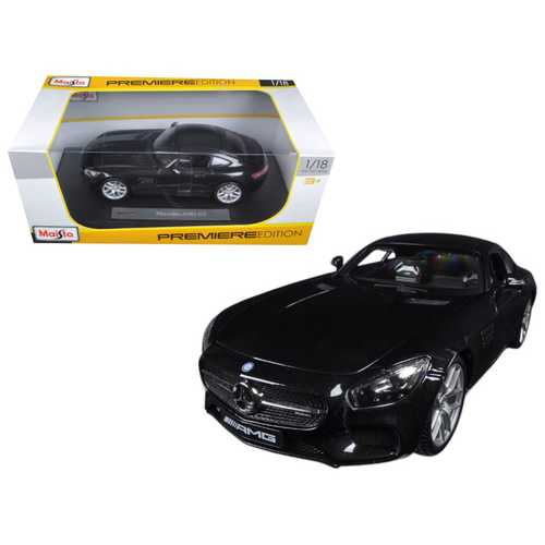 Mercedes AMG GT Metallic Black 1/18 Diecast Model Car by Maisto